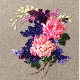Ribbon set - Peonies and lilacs