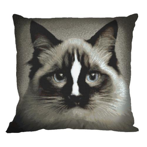 Cross stitch kit - Pillow - Cat ragdoll