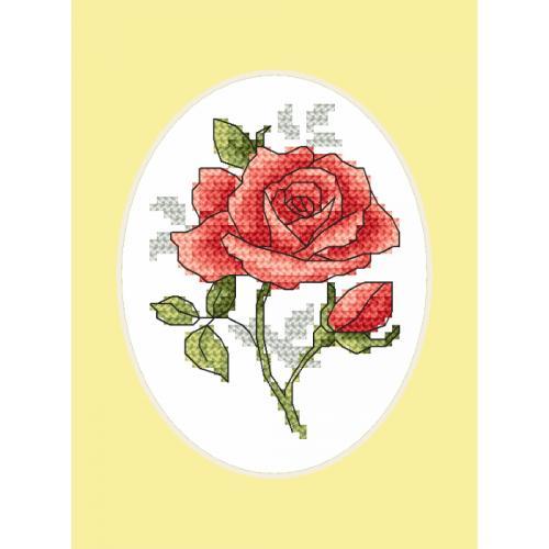 GU 8747 Cross stitch pattern - Greeting card - Rose