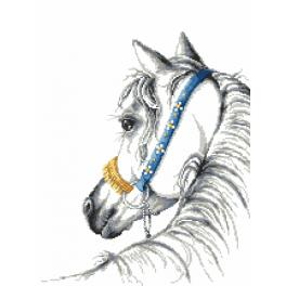 ZI 8750 Cross stitch kit with mouline and beads - Arabian horse