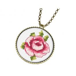 Set with mouline and medallion - Medallion with a rose