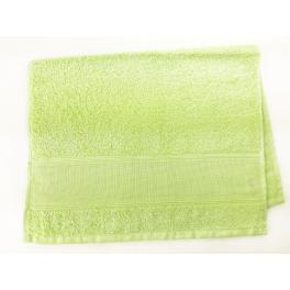 Towels frotte white celedon green