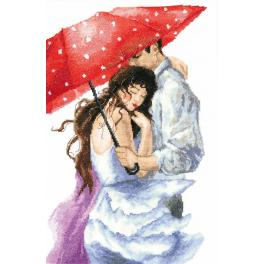 Cross stitch kit - Couple under the umbrella