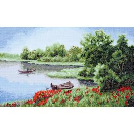 Cross stitch set - Silent bay