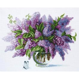 Cross stitch set - Lilac flowers