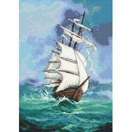 Set with tapestry and mouline - Sailin ship - A journey into the unknown