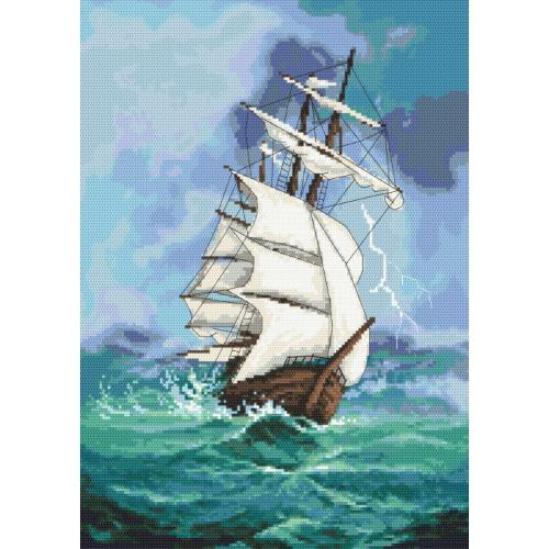AN 10124 Tapestry aida - Sailin ship - A journey into the unknown
