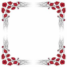 Graphic pattern – Tablecloth with poppies