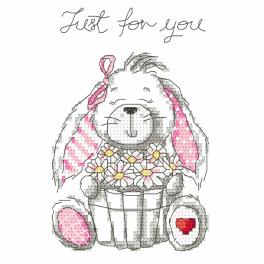 Kit with tapestry and mouline - Funny bunny - Just for you
