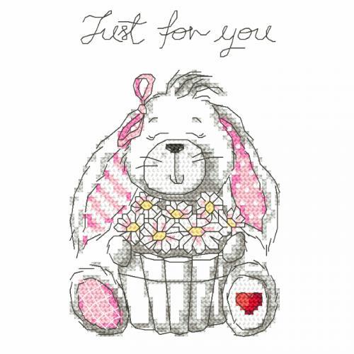 Z 8759 Cross stitch kit - Funny bunny - Just for you