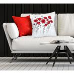 Cross stitch kit - Pillow with poppies