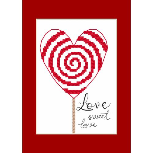 Cross Stitch pattern - Greeting card - Little heart