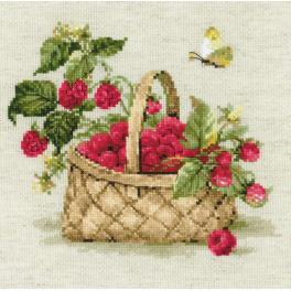 Cross stitch kit - Basket with Raspberries