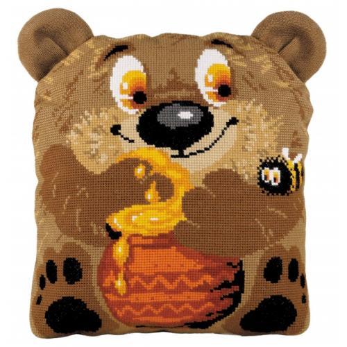 Kit with yarn - Teddy Bear Cushion