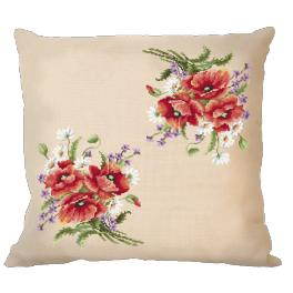 Online pattern - Pillow with poppies