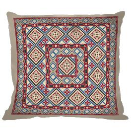 Cross stitch kit - Ethnic pillow I