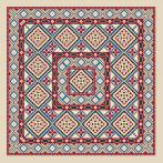 Cross stitch kit - Ethnic pillow I
