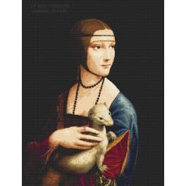 Set with tapestry and mouline - Lady with An Ermine - Leonardo da Vinci