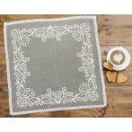 Cross stitch pattern - Napkin with arabesque linen