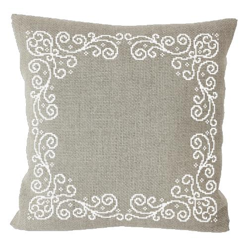 Cross stitch kit - Pillow with arabesque linen