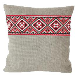 Cross stitch kit - Ethnic pillow linen I
