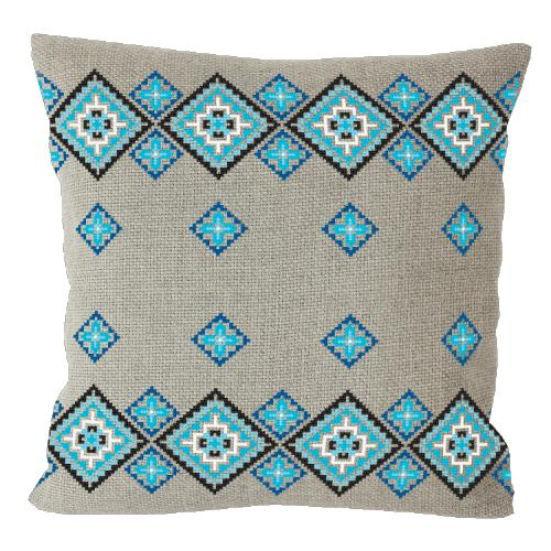 Cross stitch kit - Ethnic pillow linen II