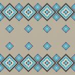 Cross stitch kit - Ethnic pillow linen II