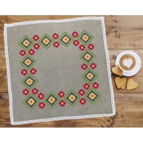 Cross stitch pattern - Ethnic napkin linen III