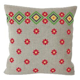 Cross Stitch pattern - Ethnic pillow linen III