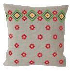 Cross stitch kit - Ethnic pillow linen III