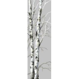 Cross Stitch pattern - Birches I