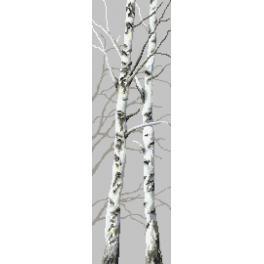 Cross Stitch pattern - Birches II