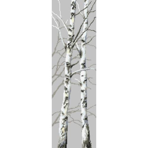 Cross Stitch pattern - Birches II