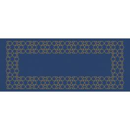 Cross stitch kit with a runner - Moroccan table runner III