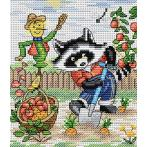 Cross stitch kit - Raccoon gardener