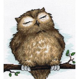 OV 729 Cross stitch kit - Owl dream
