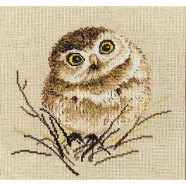 OV 751 Cross stitch kit - Owl