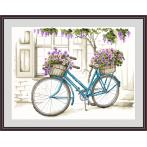 Kit with tapestry and mouline - Bicycle with surfinia