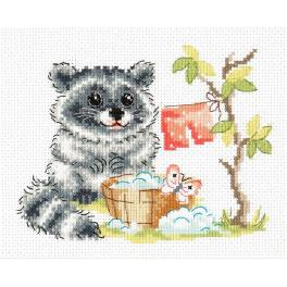 Cross stitch kit - Raccoon