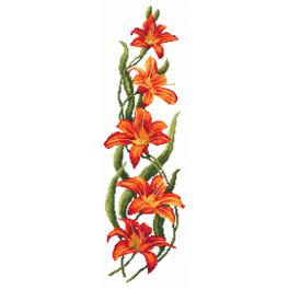K 8755 Tapestry canvas - Charming daylilies