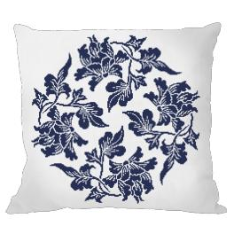 Cross Stitch pattern - Pillow - Chinese porcelain I
