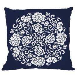 Cross Stitch pattern - Pillow - Chinese porcelain II