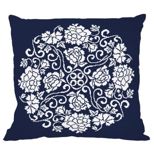 Cross stitch kit - Pillow - Chinese porcelain II