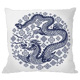 Cross Stitch pattern - Pillow - Chinese porcelain III
