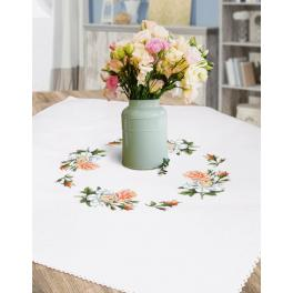 Cross stitch kit - Tablecloth with roses