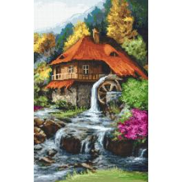 Cross Stitch pattern - Mill in the mountains