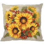 Cross Stitch pattern - Pillow - Sunflowers