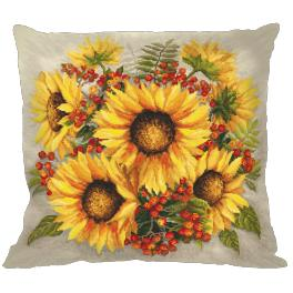 Cross stitch kit - Pillow - Sunflowers
