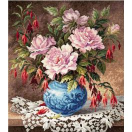 Cross stitch kit - Roses and Fuchsia