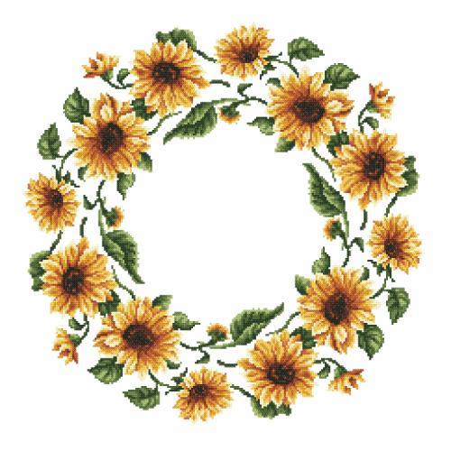 Pattern online - Napkin - Sunflowers